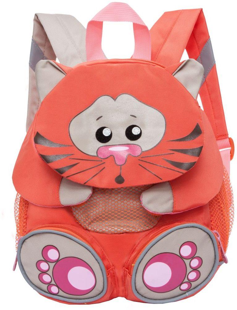 Grizzly Рюкзак дошкольный Кот цвет оранжевый RS-898-2/1 grizzly рюкзак дошкольный цвет серый rs 764 5