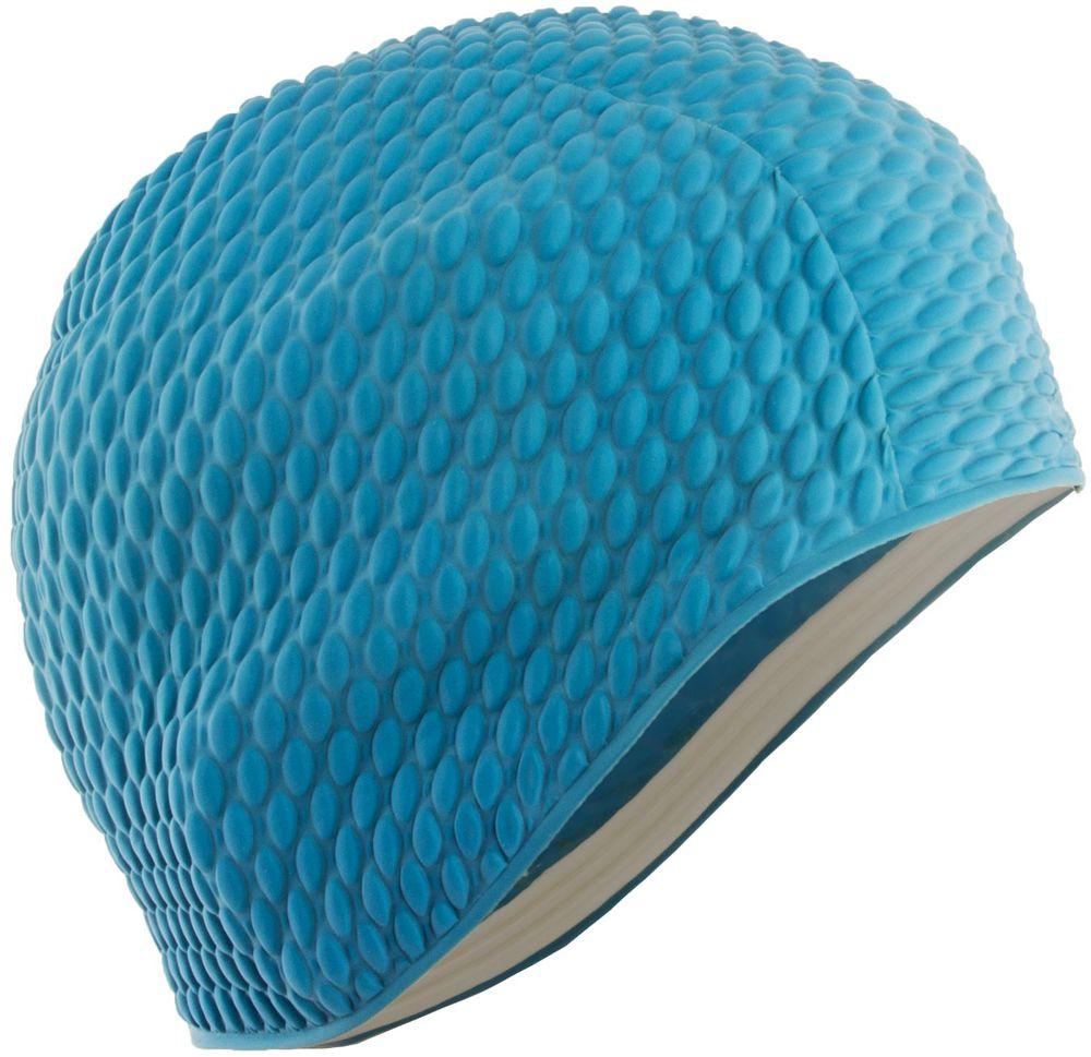Шапочка для плавания Larsen Бабл-кап, цвет: голубой шапочка для плавания детская larsen рыбка цвет желтый lsc10