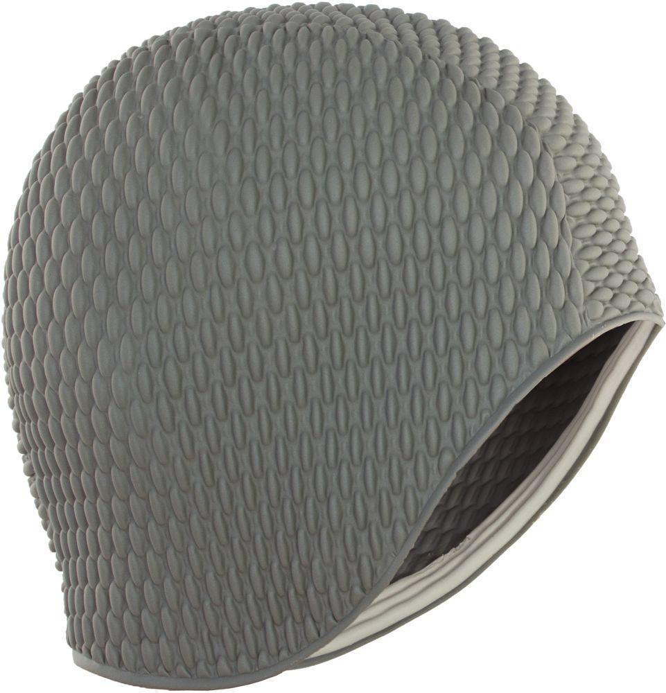 Шапочка для плавания Larsen Бабл-кап, цвет: серый шапочка для плавания детская larsen рыбка цвет желтый lsc10