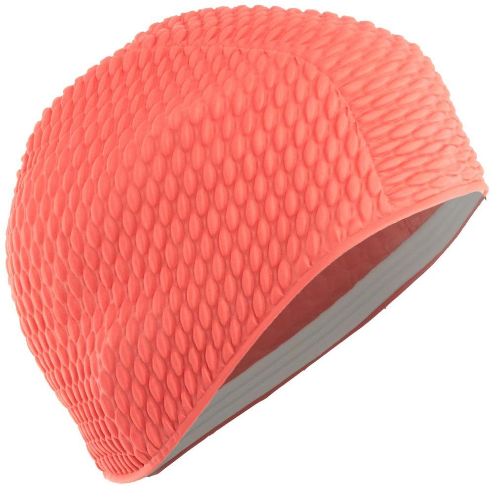 Шапочка для плавания Larsen Бабл-кап, цвет: красный шапочка для плавания детская larsen рыбка цвет желтый lsc10