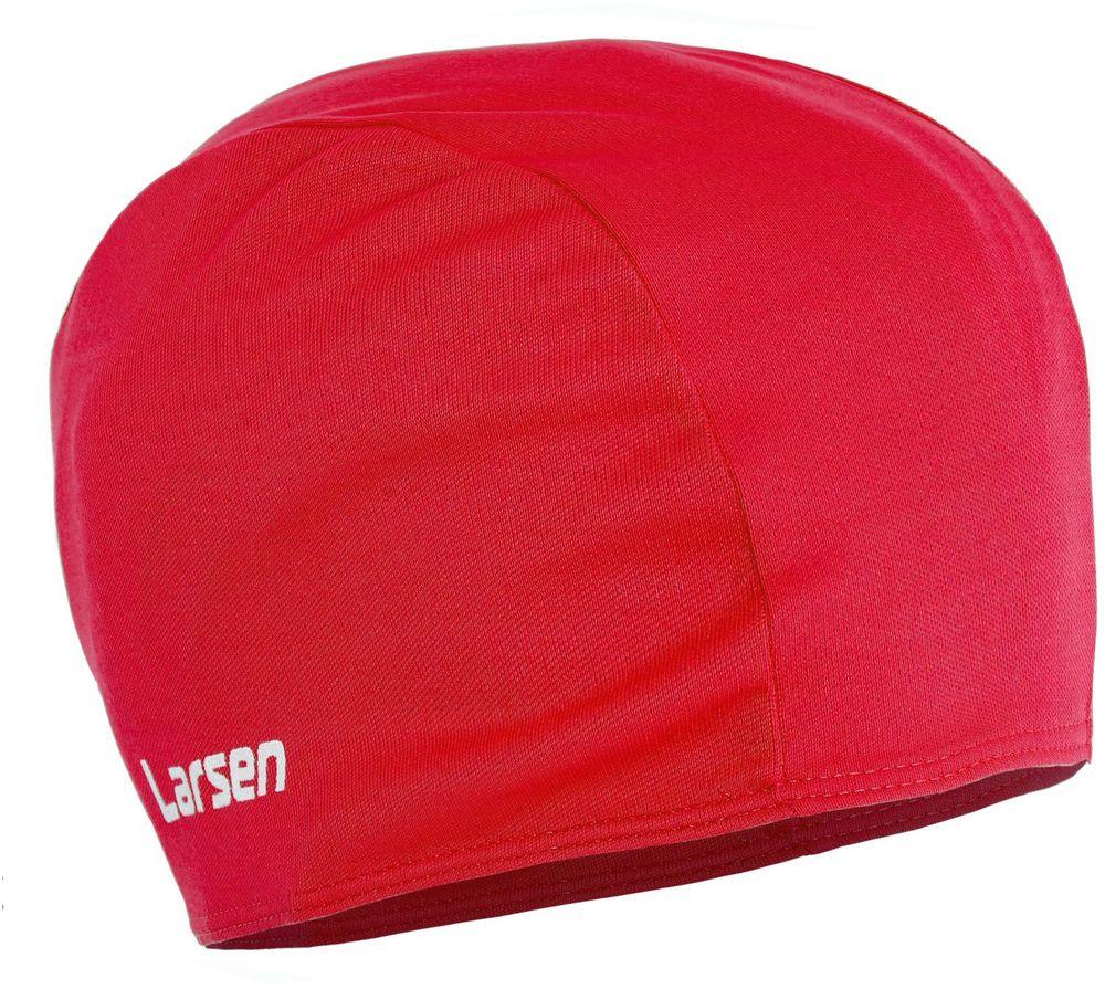 Шапочка для плавания детская Larsen, цвет: красный шапочка для плавания детская larsen рыбка цвет желтый lsc10