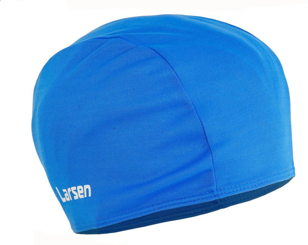 """Шапочка плавательная """"Larsen"""", детская, цвет: синий, 17 х 21 см"""