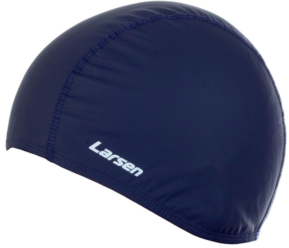 Шапочка плавательная Larsen, цвет: синий297007Размер: универсальный (взрослый) Материал: эластан с латексным покрытием