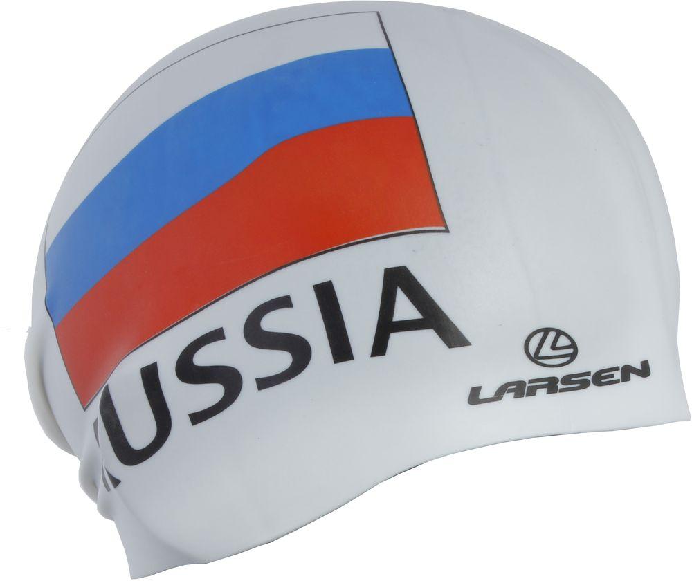 Шапочка плавательная Larsen Russia, цвет: белый секундомер larsen js501