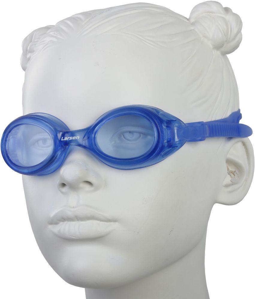 Очки плавательные Larsen, цвет: синий. DS7329388Особенности: плоские линзы без искажений Антизапотевающее покрытие: Antifog Защита от ультрафиолета: UV Protection Линзы: поликарбонат Оправа: поливинилхлорид Ремешок: силикон Переносица: нерегулируемая