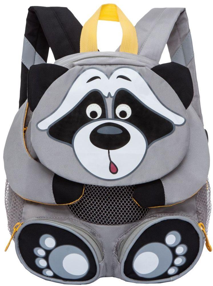 Grizzly Рюкзак дошкольный Енот цвет серый RS-898-2/2 -  Ранцы и рюкзаки