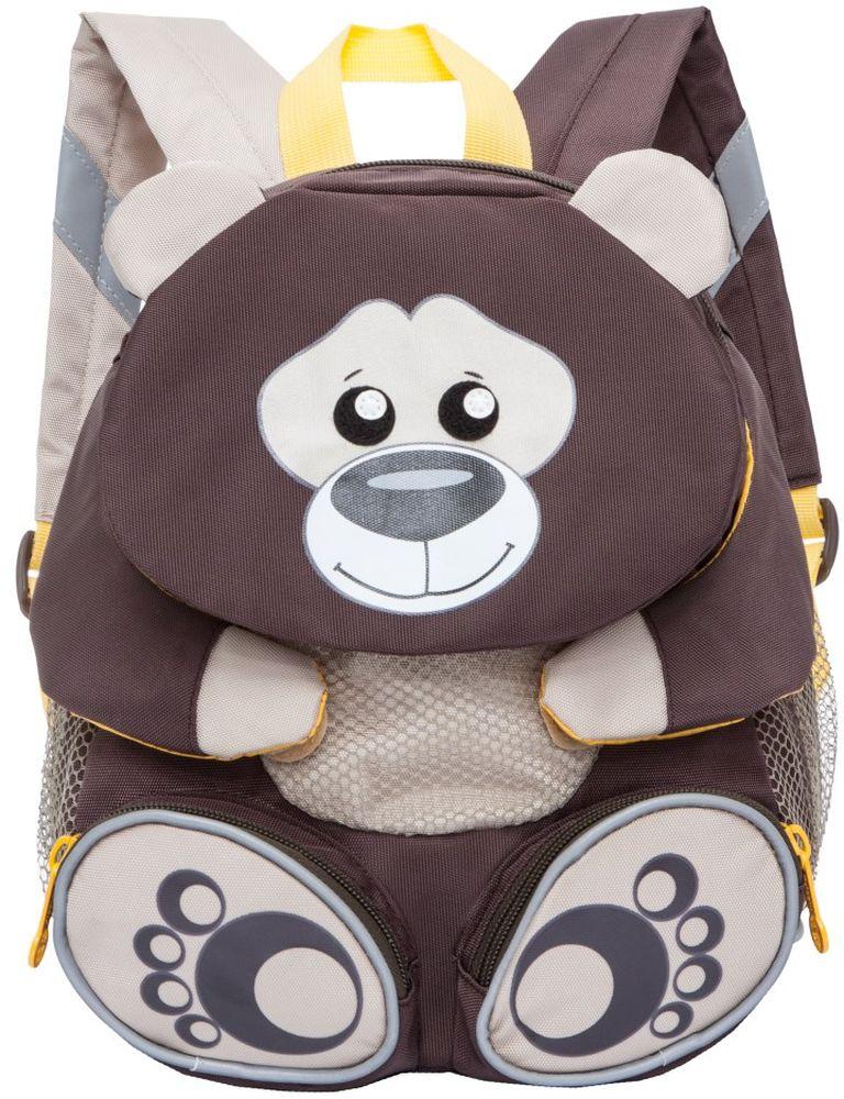 Grizzly Рюкзак дошкольный Медведь цвет коричневый RS-898-2/5 -  Ранцы и рюкзаки