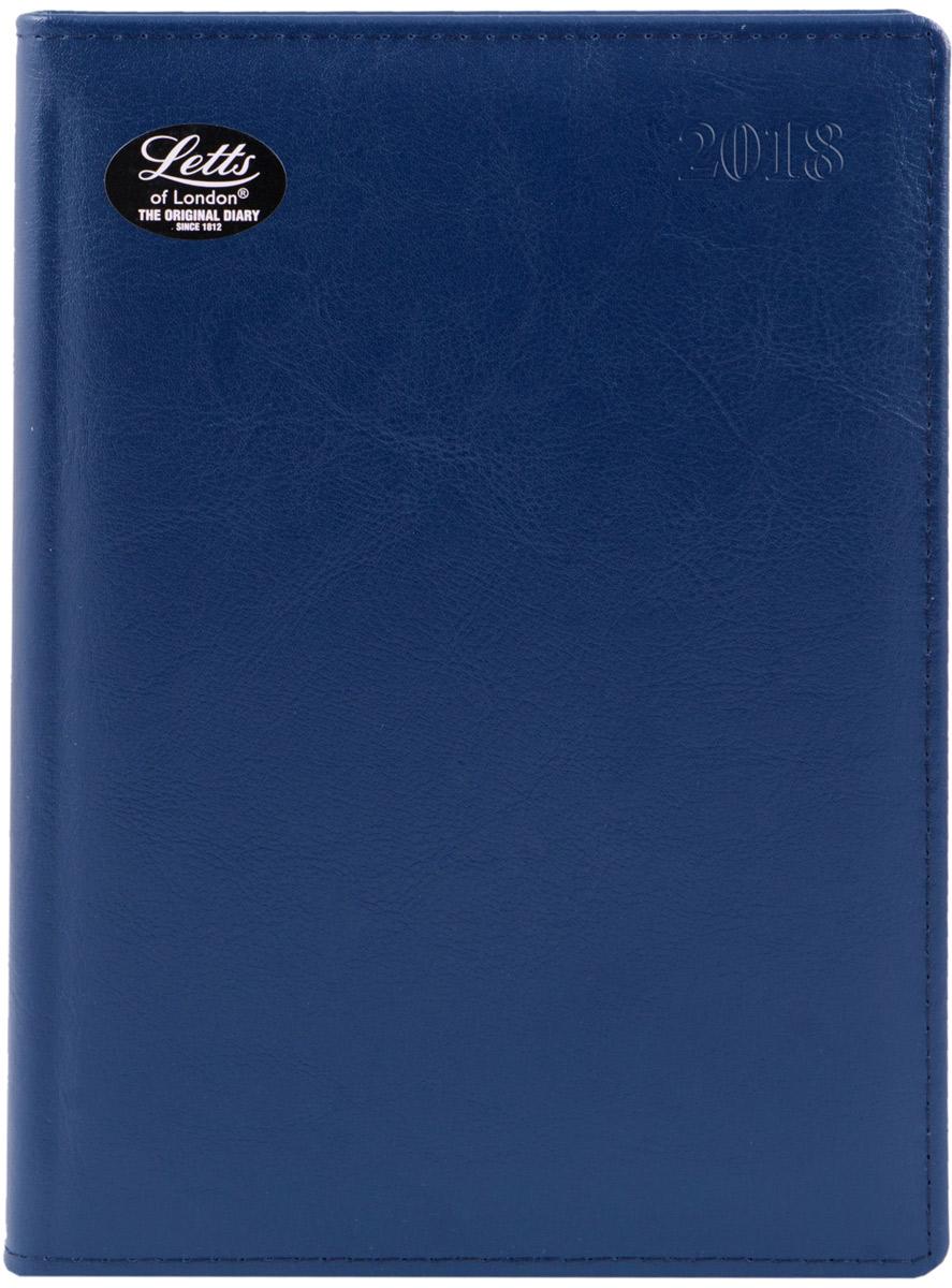 Letts Ежедневник Global Deluxe 2017 датированный 208 листов цвет синий формат А5412127220Утонченный ежедневник Letts Global Deluxe 2018 - идеально подойдёт настоящим ценителям английской классики.Ежедневник выполнен в твердом переплете из нежнейшей натуральной кожи синего цвета. Серебристый срез страниц, шелковая закладка-разделитель и перфорированные уголки подчеркнут респектабельный стиль владельца.Каждая страница ежедневника имеет почасовую и календарную нумерацию. На каждый час отведено по 2 строчки, а в боковой части страницы находится 24 строчки для телефонных и почтовых заметок. На первых страницах ежедневника представлен информационный блок. Он включает международные коды, часовые пояса, меры длины, веса и других величин, размеры одежды, аэропорты Европы, национальные праздники. Также в данный блок входит график отпусков и календарь с 2017 по 2019 год. В конце ежедневника представлена телефонная книга и цветная карта мира.Ежедневники Letts Global Deluxe 2018 - это высочайшее качество, стиль, динамичность и оригинальность.