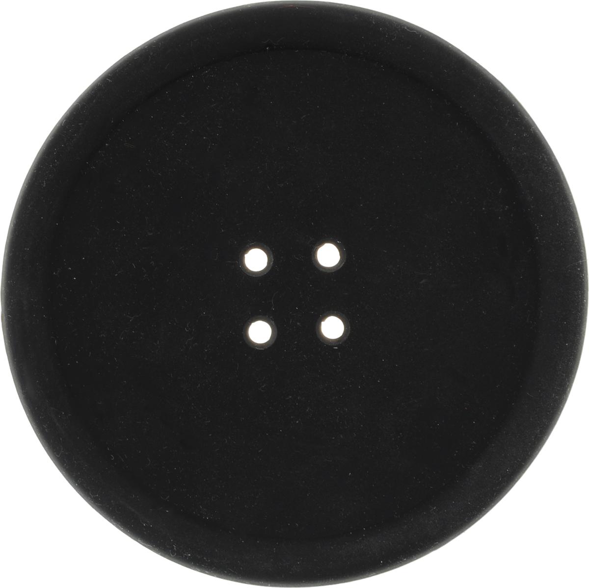 Подставка термостойкая Marmiton Пуговка, цвет: черный, диаметр 10 см салфетка для сервировки стола marmiton термостойкая подставка складная marmiton красный 21 6х21 6х1 см