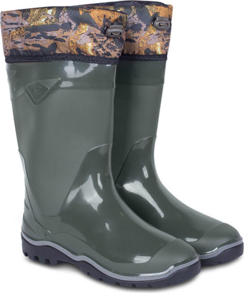 Cапоги резиновые мужские Дюна, утепленные, цвет: оливковый. 146_nu_ntp-516. Размер 45146_nu_ntp-516-45Сапоги мужские из материала ПВХ с надставкой, изготовленные по технологии трехкомпонентного литья. Модель обладает высокой эластичностью, дополнительными амортизирующими свойствами, защищает от промокания. Отличная обувь с широким спектром применения.