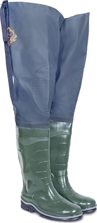 Сапоги рыбацкие мужские Дюна, цвет: оливковый. 162_t-516. Размер 43162_t-516-43Сапог выполнен с применением технологии трехкомпонентного литья. Подошва устойчива к истиранию за счет добавления каучуковых компонентов в композиции ПВХ. Обладает упругостью, холодоустойчивостью и высокими амортизирующими свойствами благодаря прослойке из вспененного нитрильного каучука. Вы будете чувствовать себя комфортно как на илистой местности, так и на каменистом берегу. Верх выполнен из ткани — Винитол. Прочный, стойкий к истиранию, прорезиненный материал расцветки - камуфляж. Все швы полукомбинезона соединены с использованием особой технологии пайки, что помогло добиться лучшей прочности и герметичности.