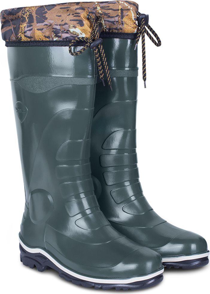 Сапоги рабочие мужские Дюна, утепленные, цвет: оливковый. 172_nu_ntp-516. Размер 42172_nu_ntp-516-42Утепленные мужские сапоги Дюна из материала ПВХ, изготовлены по технологии трехкомпонентного литья. Модель обладает высокой эластичностью, дополнительными амортизирующими свойствами и защищает от промокания. Внутренняя поверхность из полиэстера не даст ногам замерзнуть. Текстильный верх голенища регулируется с помощью шнурка со стоппером. Идеальная обувь охоты и рыбалки, а так же для повседневной носки.