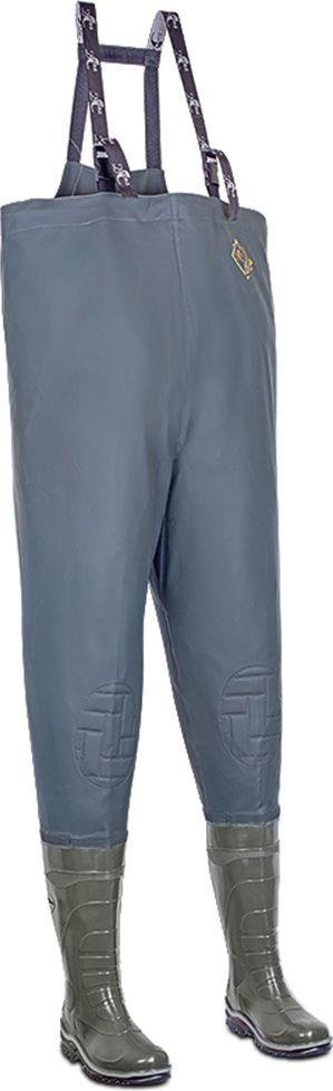 Полукомбинезон рыбацкий мужской Дюна, цвет: оливковый. 152-516. Размер 46