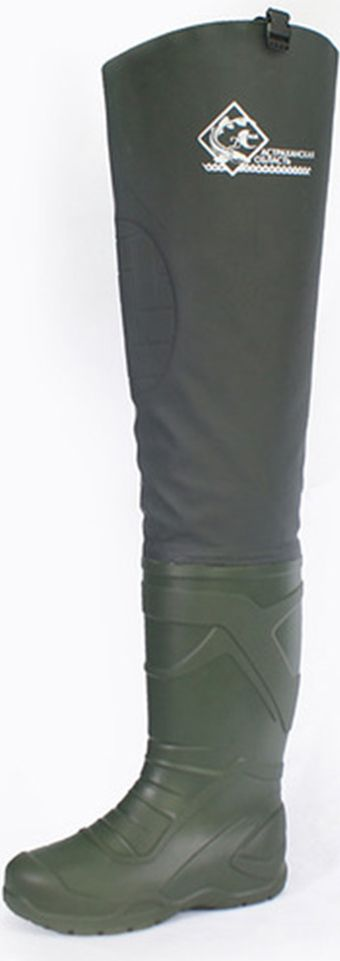Сапоги рыбацкие мужские Дюна, цвет: зеленый. 450_t-366. Размер 41450_t-366-41Мужские сапоги Дюна выполнены из нового, экологически чистого, не аллергенного, легкого, мягкого, с абсолютной водонепроницаемостью, сырья DU-light. Сапоги обладают прочностью, хорошими тепловыми свойствами. Специально подобранная колодка обеспечивает удобство и комфорт в носке. Сапоги укомплектованы вкладной стелькой. Стелька изготовлена из нетканого стелечного материала. Материал соответствует требованиям ТР ТС 017/2011 О безопасности продукции легкой промышленности. Материал стельки прочный, сохраняет форму и размеры при многократном использовании. Толщина стельки 2 мм. Сапоги разработаны с плотной качественной надставкой из водонепроницаемого материала Винитол - это эластичный и легкий, но при этом прочный и надежный. Для соединения надставки используется особо прочный клей, что обеспечивает абсолютную водонепроницаемость и герметичность. Конструкция надставки выполнена с учетом особенностей фигуры человека, что обеспечивает свободу ног. В модели надставки используются пряжка-замок и стропа, дающие возможность закрепить болотник к ремню и отрегулировать его под любой рост человека. Обувь легко моется и сушится. Данная серия сапог предназначена для создания безопасных и комфортных условий во время рыбалки и охоты.