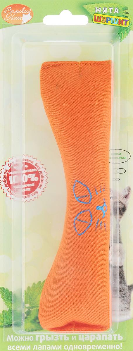 Игрушка для кошек Smart Textile Косточка, с шуршащим элементом, цвет: оранжевыйGC639Игрушка для кошек Smart Textile Косточка изготовлена из натурального хлопка и выполнена в виде косточки. Игрушка с наполнителем из 100% натуральной кошачьей мяты, дополнена специальным шуршащим элементом, что позволяет задействовать сразу два чувства четвероногого охотника: обоняние и слух. Форма и размеры игрушки созданы специально для того, чтобы кошка смогла играть ей всеми лапами одновременно. Добавление кошачьей мяты в игрушку стимулирует кошку к игре, увеличивает время игры и значительно увеличивает удовольствие вашей кошки. Размеры: 18 х 5 х 2,5 см.
