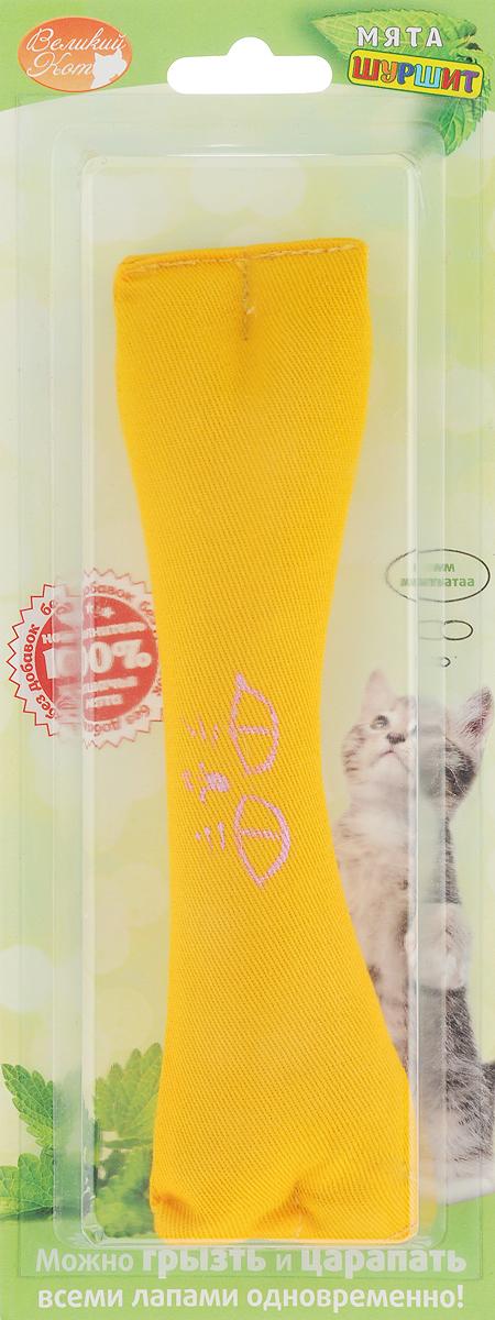 Игрушка для кошек Smart Textile Косточка, с шуршащим элементом, цвет: желтыйGC639Игрушка для кошек Smart Textile Косточка изготовлена из натурального хлопка и выполнена в виде косточки. Игрушка с наполнителем из 100%натуральной кошачьей мяты, дополнена специальным шуршащим элементом, что позволяет задействовать сразу два чувства четвероногогоохотника: обоняние и слух. Форма и размеры игрушки созданы специально для того, чтобы кошка смогла играть ей всеми лапами одновременно. Добавление кошачьеймяты в игрушку стимулирует кошку к игре, увеличивает время игры и значительно увеличивает удовольствие вашей кошки. Размеры: 18 х 5 х 2,5 см.