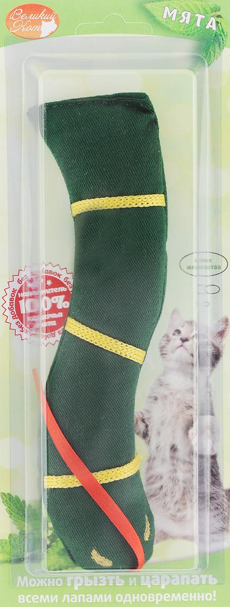 Игрушка для кошек Smart Textile Змейка полосатая, цвет: зеленый, 18 смGC592Игрушка для кошек Smart Textile Змейка полосатая изготовлена из натурального хлопка и выполнена в виде змеи. Игрушка с наполнителем из 100% натуральной кошачьей мяты способна успокоить кошку после активной игры или взбодрить если питомец ленится.Форма и размеры игрушки созданы специально для того, чтобы кошка смогла играть ей всеми лапами одновременно. Забавные и безопасные, игрушки способны отвлечь и успокоить питомца в различных поездках или у ветеринара, будут отличным стимулом для привлечения любимца к порядку.Размеры: 18 х 4,5 х 2,5 см.