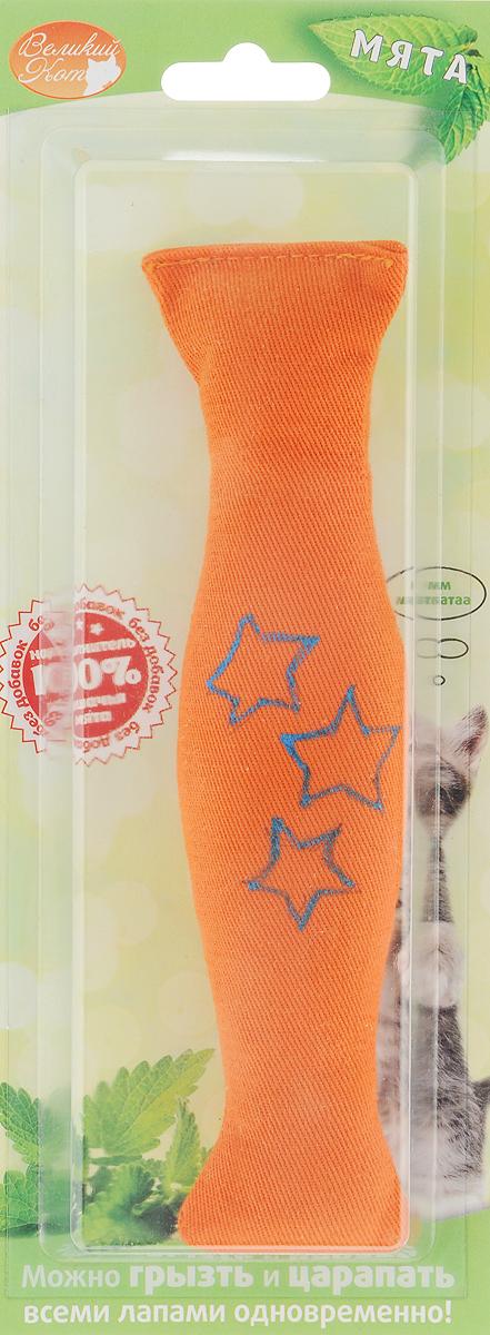 Игрушка для кошек Smart Textile Сладкая конфетка, с кошачьей мятой, цвет: оранжевыйGC547Игрушка для кошек Smart Textile Сладкая конфетка изготовлена из натурального хлопка и выполнена в виде конфеты. Игрушка с наполнителем из 100% натуральной кошачьей мяты способна успокоить кошку после активной игры или взбодрить если питомец ленится. Форма и размеры игрушки созданы специально для того, чтобы кошка смогла играть ей всеми лапами одновременно. Забавные и безопасные, игрушки способны отвлечь и успокоить питомца в различных поездках или у ветеринара, будут отличным стимулом для привлечения любимца к порядку.Размеры: 19 х 4,5 х 2 см.