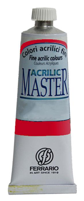 Ferrario Краска акриловая Acrilic Master цвет №12 красный средний 60 млBM09760CO12Акриловые краски серии ACRILIC MASTER итальянской компании Ferrario. Универсальны в применении, так как хорошо ложатся на любую обезжиренную поверхность: бумага, холст, картон, дерево, керамика, пластик. При изготовлении красок используются высококачественные пигменты мелкого помола. Краска быстро сохнет, обладает отличной укрывистостью и насыщенностью цвета. Работы, сделанные с помощью ACRILIC MASTER, не тускнеют и не выгорают на солнце. Все цвета отлично смешиваются между собой и при необходимости разбавляются водой. Для достижения необходимых эффектов применяют различные медиумы для акриловой живописи. В серии представлено 50 цветов.