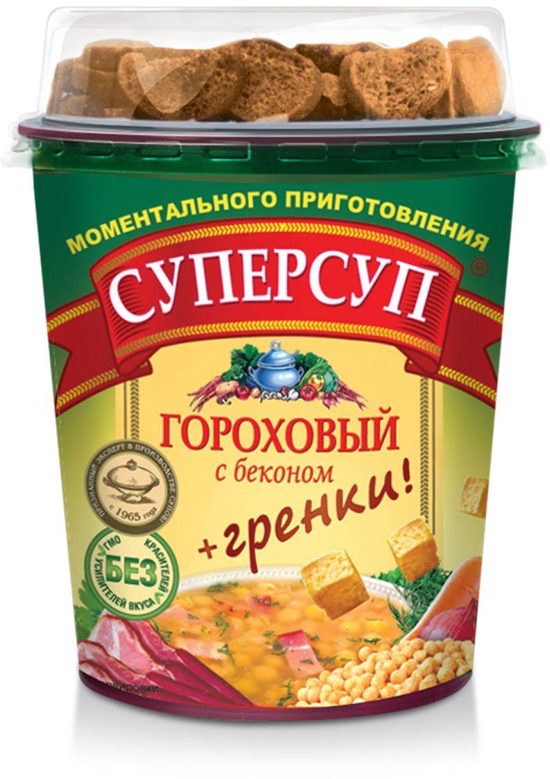 Русский продукт Суперсуп гороховый с беконом + гренки, 45 г готово суп гороховый 250 г