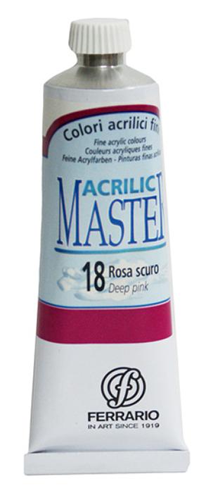 Ferrario Краска акриловая Acrilic Master цвет №18 розовый темный 60 мл BM09760CO18BM09760CO18Акриловые краски серии ACRILIC MASTER итальянской компании Ferrario. Универсальны в применении, так как хорошо ложатся на любую обезжиренную поверхность: бумага, холст, картон, дерево, керамика, пластик. При изготовлении красок используются высококачественные пигменты мелкого помола. Краска быстро сохнет, обладает отличной укрывистостью и насыщенностью цвета. Работы, сделанные с помощью ACRILIC MASTER, не тускнеют и не выгорают на солнце. Все цвета отлично смешиваются между собой и при необходимости разбавляются водой. Для достижения необходимых эффектов применяют различные медиумы для акриловой живописи. В серии представлено 50 цветов.