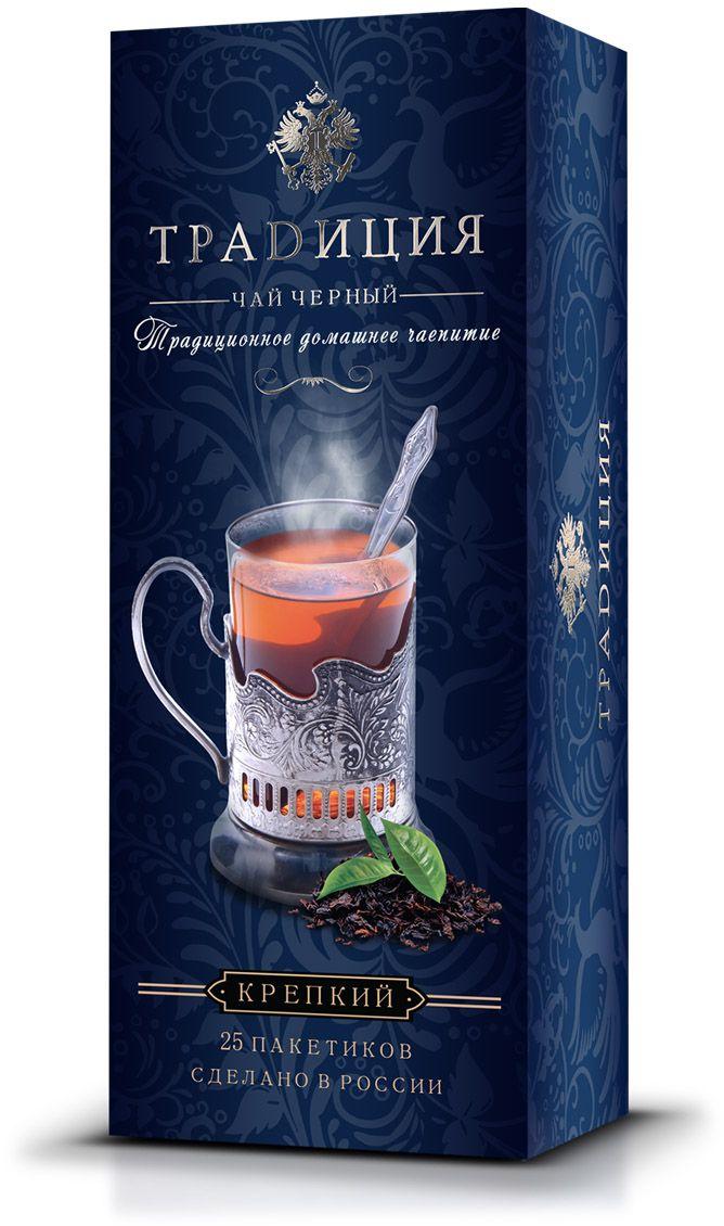 Традиция Классический чай черный, 25 шт