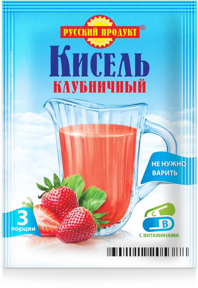 Русский продукт Кисель клубничный, 18 шт по 90 г
