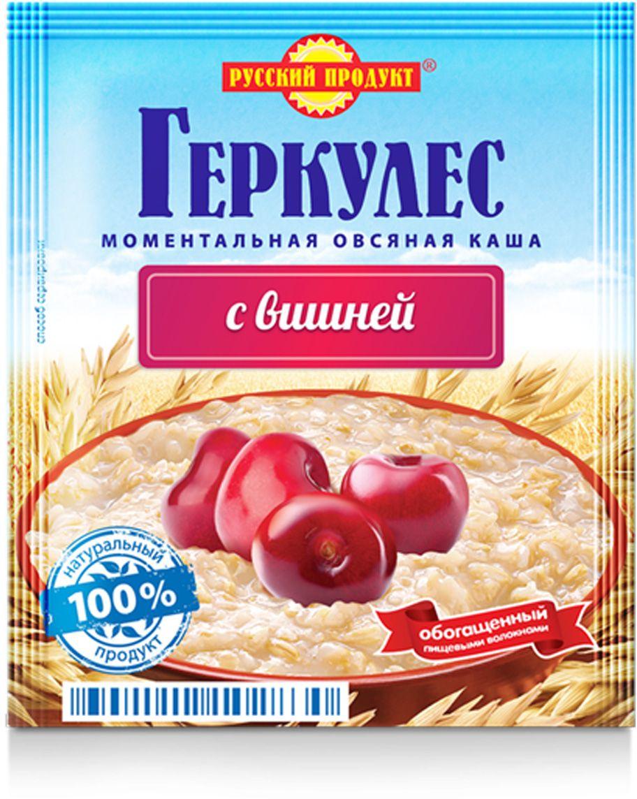 Русский продукт Геркулес овсяная каша с вишней, 30 шт по 35 г каша bebi premium злаки с малиной и вишней для активного дня с 6 мес 200 гр мол