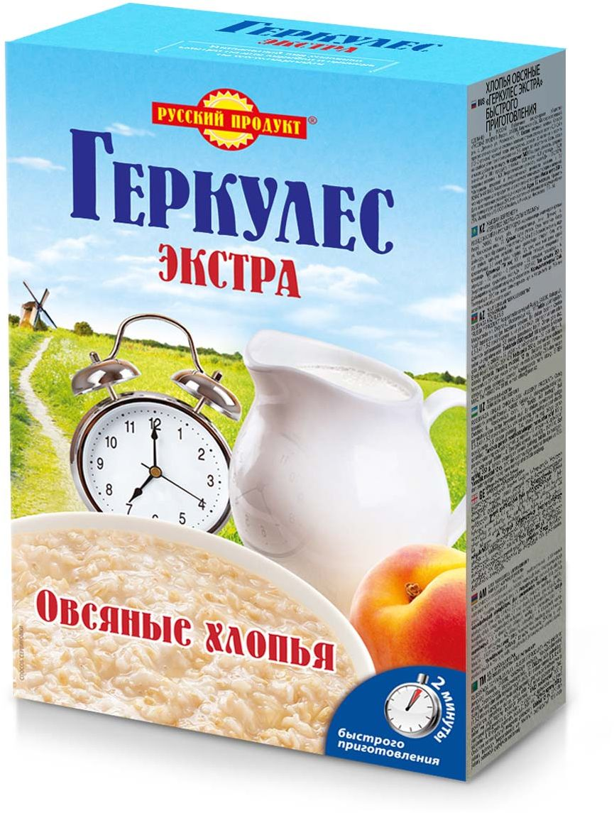 Русский продукт геркулес экстра быстрого приготовления, 350 г масло из виноградных косточек trasimeno рафинированное 1 л италия