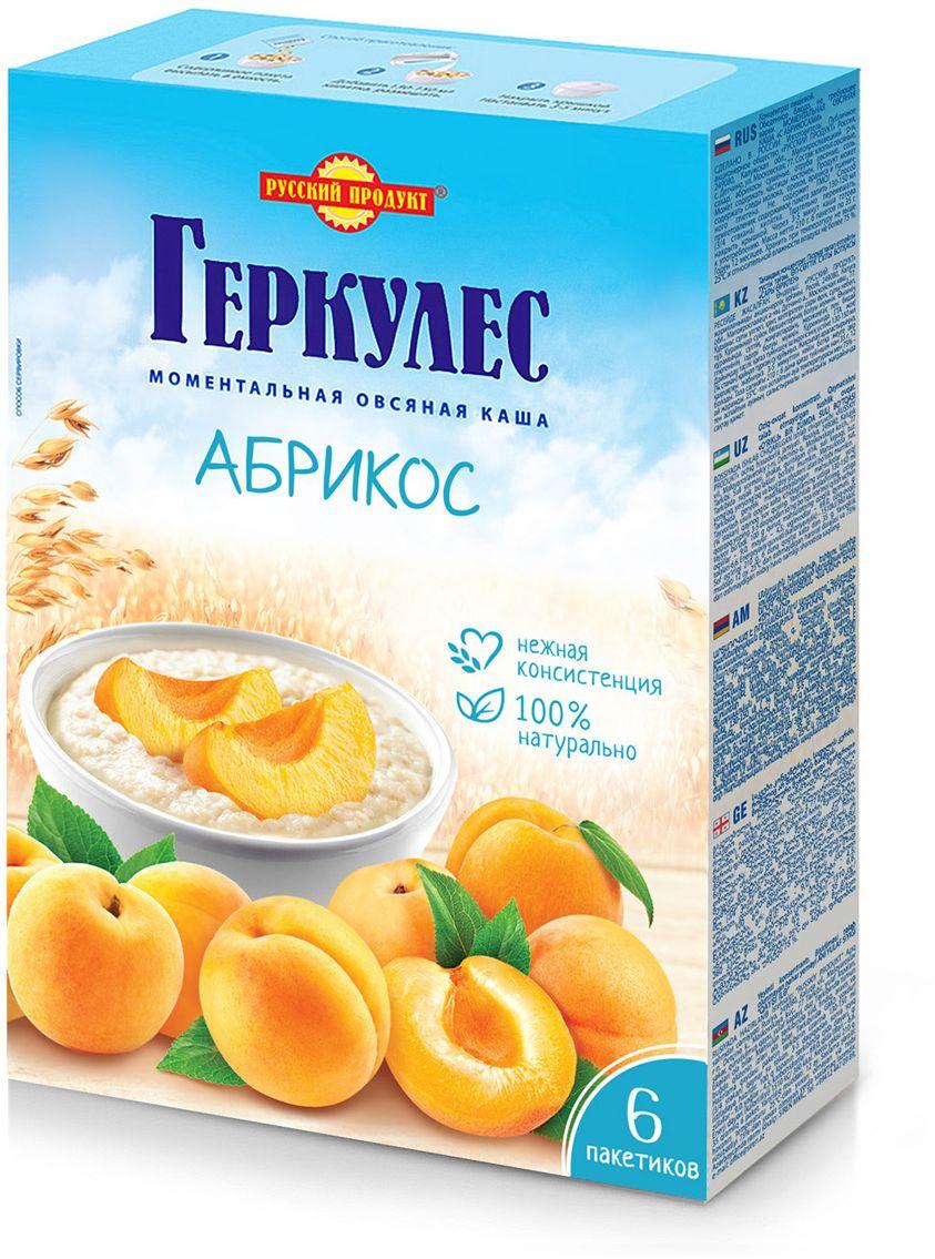 Русский продукт Геркулес овсяная каша с абрикосами, 6 шт по 35 г