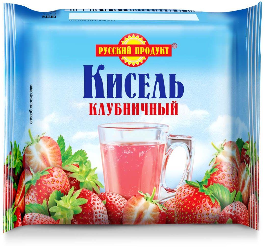 Русский продукт Кисель клубничный, 220 г2406054Способ приготовления: залить брикет 2,5 стаканами теплой воды (около 50?С), тщательно размешать до полного растворения, затем при интенсивном перемешивании влить в кипяток и довести до кипения.Общее количество воды на 220 г сухого продукта - 1,3 л (6,5 стаканов).