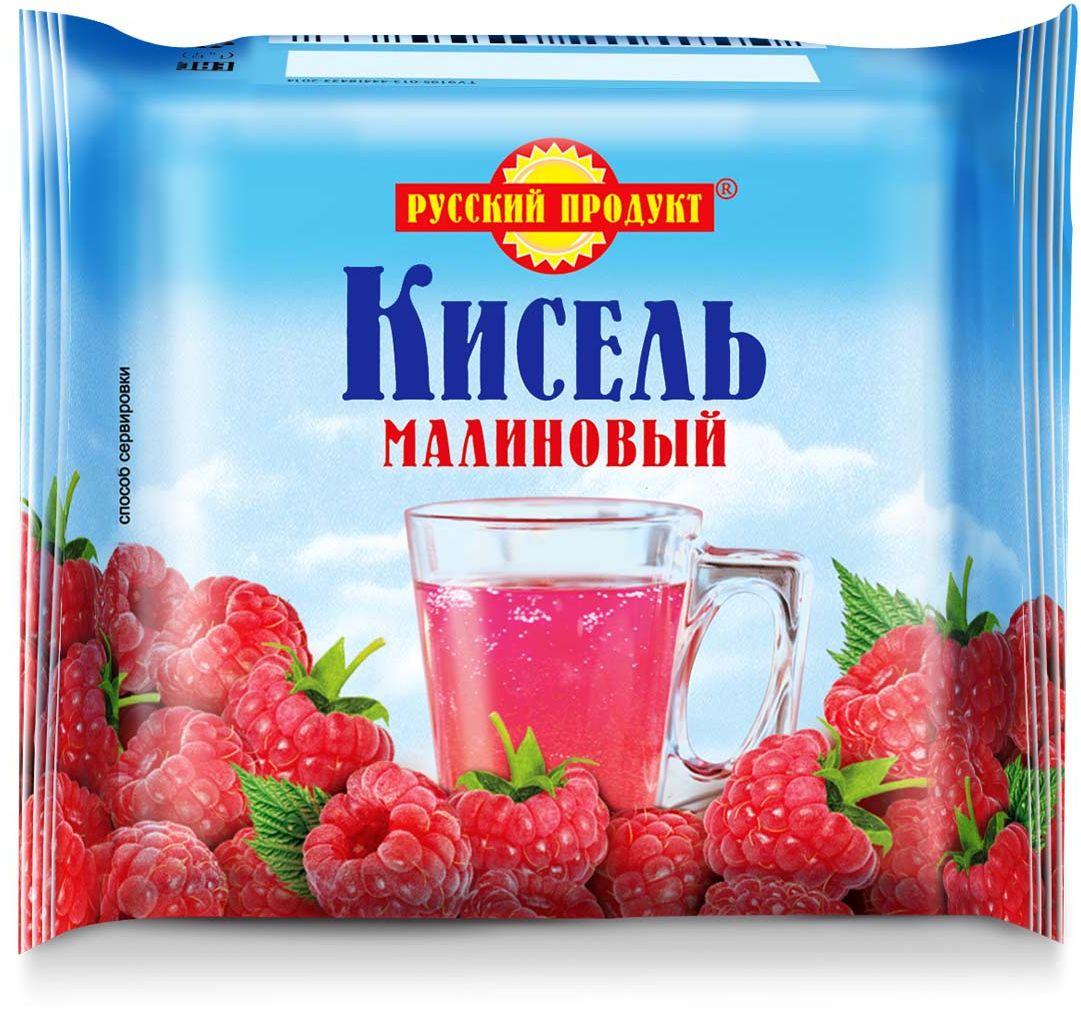 Русский продукт Кисель малиновый, 220 г2406056Способ приготовления: залить брикет 2,5 стаканами теплой воды (около 50?С), тщательно размешать до полного растворения, затем при интенсивном перемешивании влить в кипяток и довести до кипения.Общее количество воды на 220 г сухого продукта - 1,3 л (6,5 стаканов).