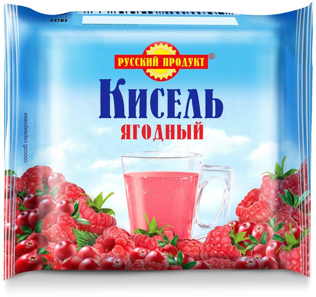 Русский продукт Кисель ягодный, 220 г2406058Способ приготовления: залить брикет 2,5 стаканами теплой воды (около 50?С), тщательно размешать до полного растворения, затем при интенсивном перемешивании влить в кипяток и довести до кипения.Общее количество воды на 220 г сухого продукта - 1,3 л (6,5 стаканов).
