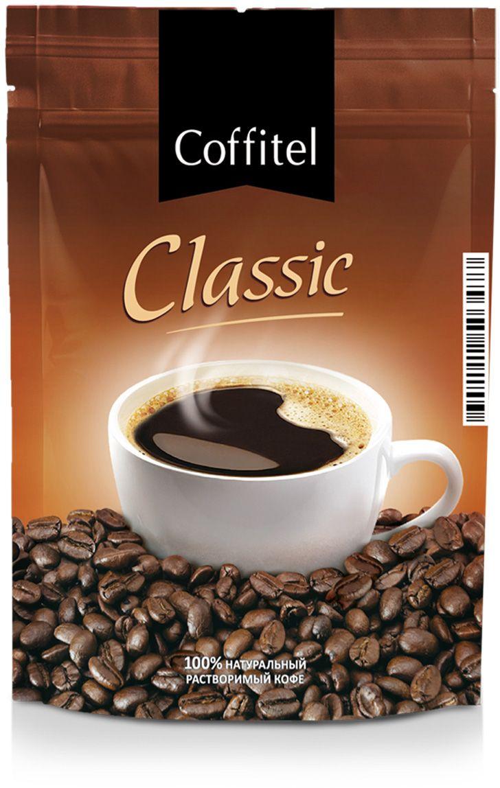 Coffitel Classic кофе растворимый, 75 г2421662Способ приготовления:1. В чашку положить чайную ложку кофе.2. Залить 100-150 мл горячей воды и размешать.3. Сахар, молоко или сливки добавить по вкусу. Кофе: мифы и факты. Статья OZON Гид