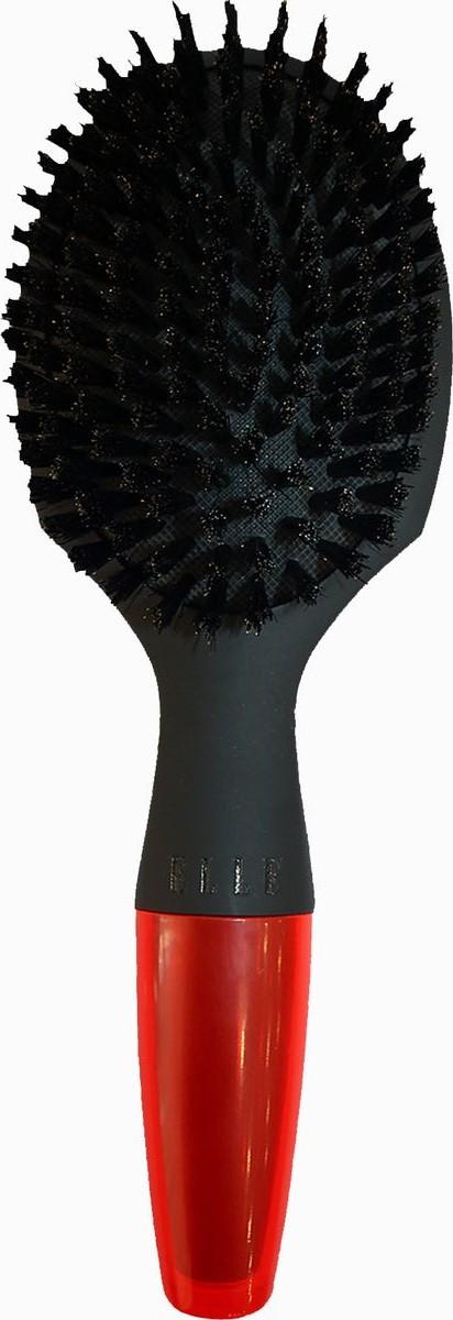 Elle Щетка разглаживающая для нормальных волос4069057602ELLE признанный эксперт в индустрии моды, теперь предлагает собственную коллекцию. Щетка РАЗГЛАЖИВАЮЩАЯ для НОРМАЛЬНЫХ волос: щетина кабана, усиленная нейлоновыми волокнами, эффективно расчесывает и выпрямляет волосы. Добавляет блеск. Обработанные кончики щетинок массируют кожу головы и оказывают стимулирующее действие на кутикулу. Удобная облегченная ручка.
