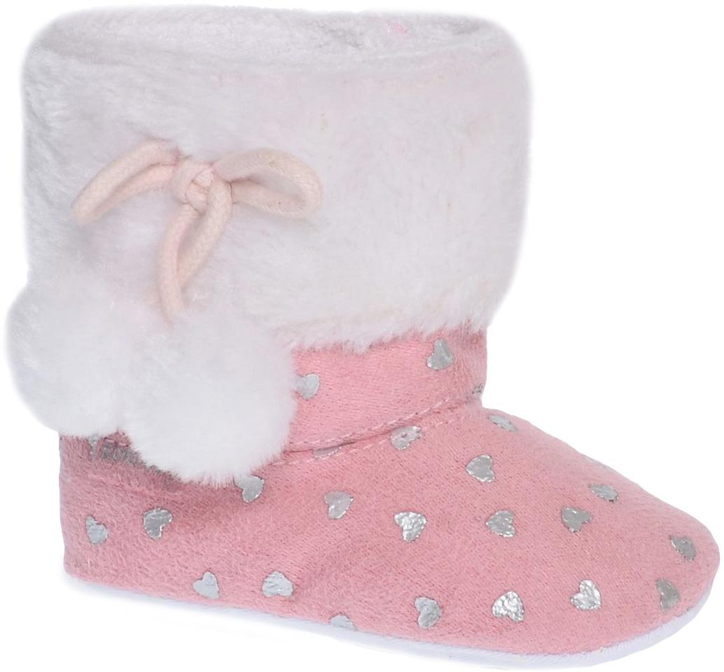 Пинетки детские Котофей, цвет: розовый. 001068-11. Размер 18001068-11