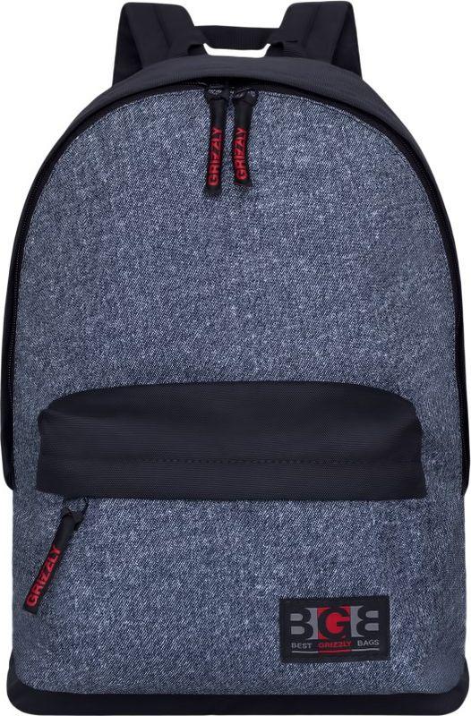 Рюкзак молодежный Grizzly, 17 л. RL-850-2/1RL-850-2/1Рюкзак молодежный Grizzly - лаконичная и очень удобная модель, в которую поместится все: школьные принадлежности и завтрак, одежда и многое другое. Рюкзак, выполненный из полиэстера, имеет одно отделение, объемный карман на молнии на передней стенке, внутренний карман для электронных устройств. Благодаря текстильной ручке рюкзак можно повесить, а подвесная система позволяет регулировать лямки и тем самым адаптировать изделие под рост владельца.