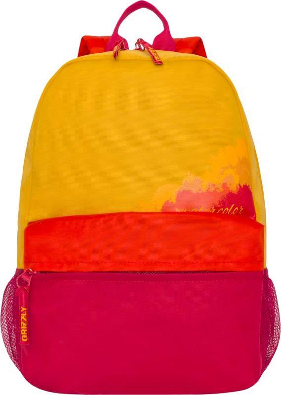 Рюкзак молодежный Grizzly, 13,5 л. RL-855-3/1RL-855-3/1Рюкзак молодежный Grizzly - лаконичная и очень удобная модель, в которую поместится все: школьные принадлежности и завтрак, одежда, ноутбук и многое другое. Рюкзак, выполненный из полиэстера, имеет одно отделение, объемный карман на молнии на передней стенке, боковые карманы из сетки, внутренний карман. Благодаря текстильной ручке рюкзак можно повесить, а подвесная система позволяет регулировать лямки и тем самым адаптировать изделие под рост владельца.