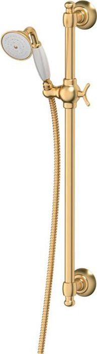 Штанга с лейкой для душа Ponsi Stilmar, цвет: матовое золото. PON 376..ST.OSPON 376..ST.OSСтиль Ponsi является результатом сочетания вековых традиций и современных инноваций, поэтому вся продукция этой тосканской компании уникальна, добротна и хорошо продумана. Это философия, которая уже более 70 лет позволяет компании создавать продукты, совмещающие в себе элегантность, прочность и безукоризненный вкус. Все этапы производства от разработки дизайна до упаковки готовой продукции осуществляются на одном и том же заводе, поэтому качество продукции Ponsi безупречно. Особое внимание к деталям, тщательность исполнения, многообразие стилей – вот отличительные черты продукции Ponsi.Высококачественная латунь — дорогостоящий многокомпонентный медный сплав с основным легирующим элементом – цинком. Обладает высокой прочностью и коррозионной стойкостью. Считается лучшим материалом для изготовления аксессуаров, смесителей и другого сантехнического оборудования.Сделано из латуни. Латунь, используемая в производстве аксессуаров, обладает высокой прочностью и коррозионной стойкостью, и считается лучшим материалом для изготовления аксессуаров.Фарфор. Декоративные части смесителей, изготовленные из фарфора, удачно сочетаются с аксессуарами коллекции STILMAR.Произведено в Италии. Весь технологический цикл производства осуществляется на территории Италии.Предмет покрыт золотом 999 пробыоттенки цветов предметов на изображениях могут отличаться от реальных