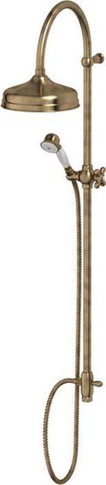 Душевая колонна Ponsi Stilmar, цвет: античная бронза. PON CC25.BAPON CC25.BAСтиль Ponsi является результатом сочетания вековых традиций и современных инноваций, поэтому вся продукция этой тосканской компании уникальна, добротна и хорошо продумана. Это философия, которая уже более 70 лет позволяет компании создавать продукты, совмещающие в себе элегантность, прочность и безукоризненный вкус. Все этапы производства от разработки дизайна до упаковки готовой продукции осуществляются на одном и том же заводе, поэтому качество продукции Ponsi безупречно. Особое внимание к деталям, тщательность исполнения, многообразие стилей – вот отличительные черты продукции Ponsi.Высококачественная латунь — дорогостоящий многокомпонентный медный сплав с основным легирующим элементом – цинком. Обладает высокой прочностью и коррозионной стойкостью. Считается лучшим материалом для изготовления аксессуаров, смесителей и другого сантехнического оборудования.Сделано из латуни. Латунь, используемая в производстве аксессуаров, обладает высокой прочностью и коррозионной стойкостью, и считается лучшим материалом для изготовления аксессуаров.Фарфор. Декоративные части смесителей, изготовленные из фарфора, удачно сочетаются с аксессуарами коллекции STILMAR.Произведено в Италии. Весь технологический цикл производства осуществляется на территории Италии.оттенки цветов предметов на изображениях могут отличаться от реальных