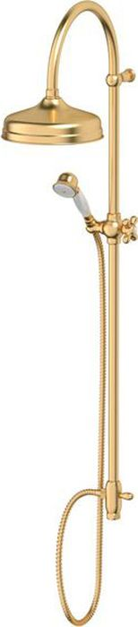 Душевая колонна Ponsi Stilmar, цвет: матовое золото. PON CC25.OSPON CC25.OSСтиль Ponsi является результатом сочетания вековых традиций и современных инноваций, поэтому вся продукция этой тосканской компании уникальна, добротна и хорошо продумана. Это философия, которая уже более 70 лет позволяет компании создавать продукты, совмещающие в себе элегантность, прочность и безукоризненный вкус. Все этапы производства от разработки дизайна до упаковки готовой продукции осуществляются на одном и том же заводе, поэтому качество продукции Ponsi безупречно. Особое внимание к деталям, тщательность исполнения, многообразие стилей – вот отличительные черты продукции Ponsi.Высококачественная латунь — дорогостоящий многокомпонентный медный сплав с основным легирующим элементом – цинком. Обладает высокой прочностью и коррозионной стойкостью. Считается лучшим материалом для изготовления аксессуаров, смесителей и другого сантехнического оборудования.Сделано из латуни. Латунь, используемая в производстве аксессуаров, обладает высокой прочностью и коррозионной стойкостью, и считается лучшим материалом для изготовления аксессуаров.Фарфор. Декоративные части смесителей, изготовленные из фарфора, удачно сочетаются с аксессуарами коллекции STILMAR.Произведено в Италии. Весь технологический цикл производства осуществляется на территории Италии.Предмет покрыт золотом 999 пробыоттенки цветов предметов на изображениях могут отличаться от реальных