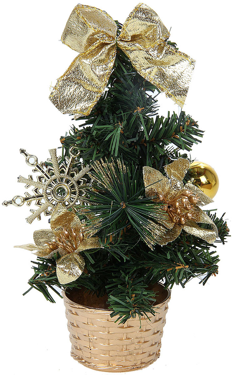 Ель искусственная Sima-land Новогодняя елочка, настольная, высота 20 см706038Искусственная ель компании Sima-land выполненадля оформления интерьера к Новому году. Ее не нужно ни собирать, ни наряжать, зато настроение праздника она создает очень быстро.Елка украшена текстильным бантом, шариком, цветком и снежинкой. А благодаря аккуратному горшочку, в который помещена ель, она станет прекрасным украшением изысканного интерьера. Для большего объема и пушистости, ветки елочки закреплены в хаотичном порядке.Откройте для себя удивительный мир сказок и грез. Почувствуйте волшебные минуты ожидания праздника, создайте новогоднее настроение вашим дорогим и близким.