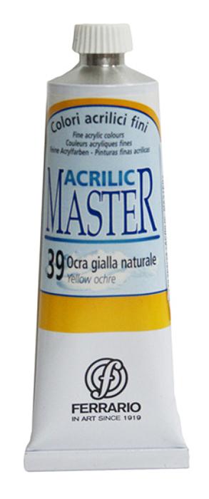 Ferrario Краска акриловая Acrilic Master цвет №39 охра желтая 60 мл BM09760CO39BM09760CO39Акриловые краски серии ACRILIC MASTER итальянской компании Ferrario. Универсальны в применении, так как хорошо ложатся на любую обезжиренную поверхность: бумага, холст, картон, дерево, керамика, пластик. При изготовлении красок используются высококачественные пигменты мелкого помола. Краска быстро сохнет, обладает отличной укрывистостью и насыщенностью цвета. Работы, сделанные с помощью ACRILIC MASTER, не тускнеют и не выгорают на солнце. Все цвета отлично смешиваются между собой и при необходимости разбавляются водой. Для достижения необходимых эффектов применяют различные медиумы для акриловой живописи. В серии представлено 50 цветов.