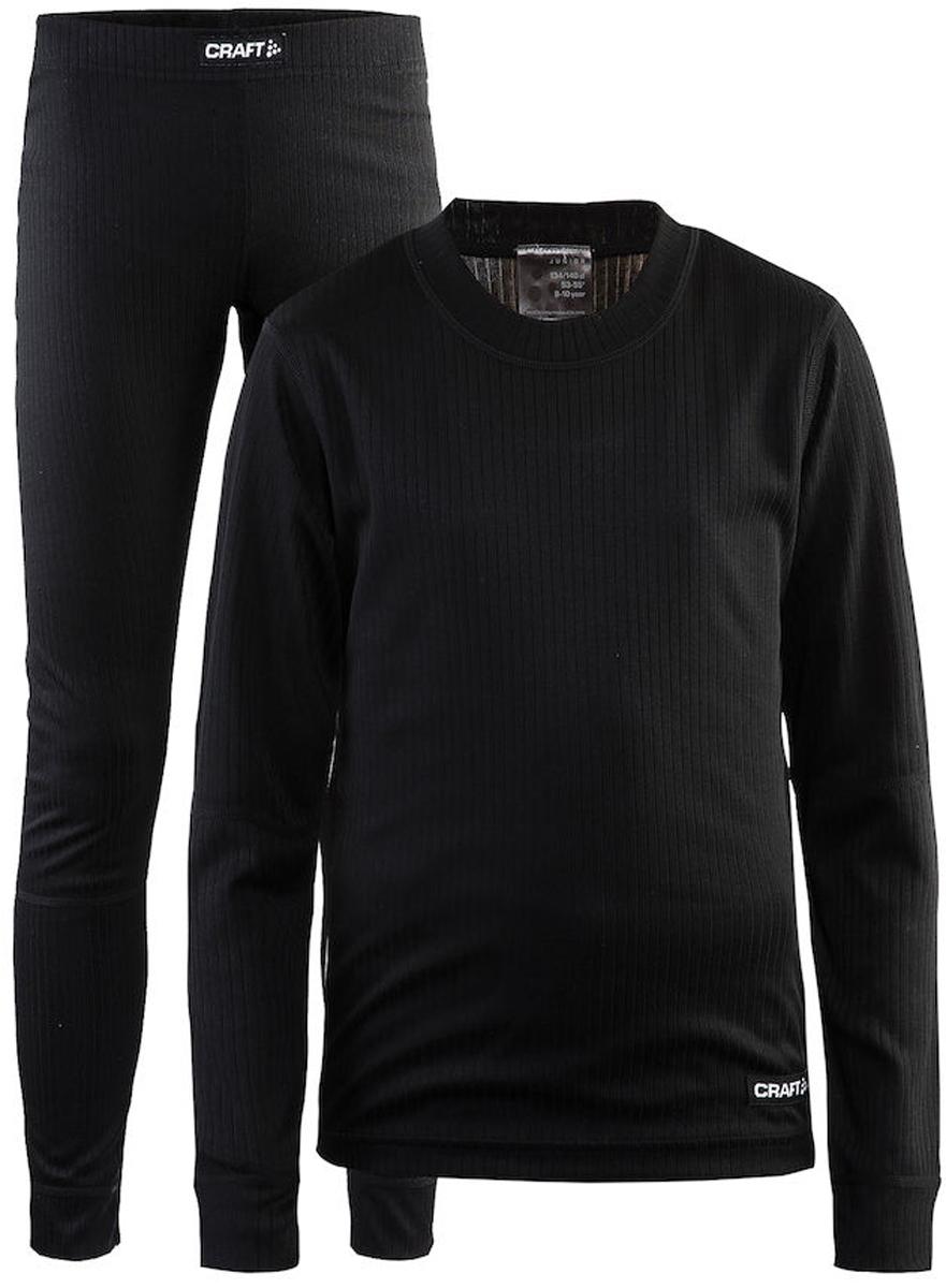 Комплект термобелья детский: брюки и кофта Craft Baselayer, цвет: черный. 1905355/999000. Размер 146/1521905355/999000