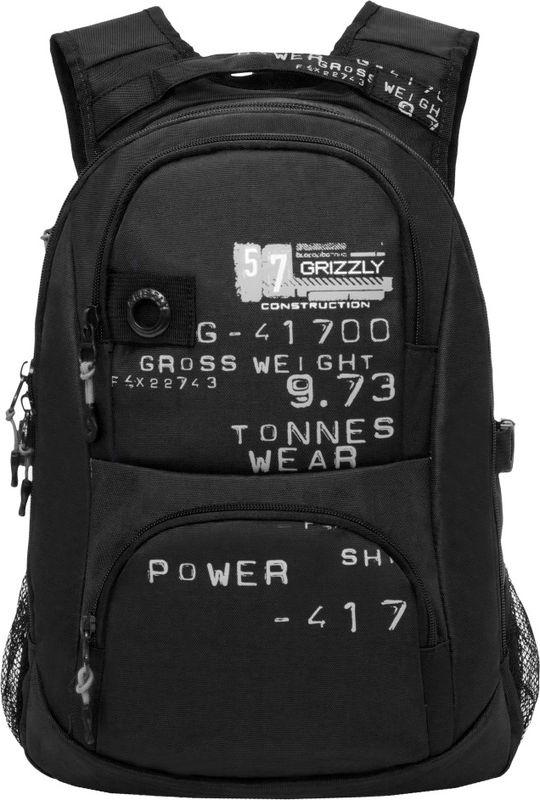 Рюкзак молодежный Grizzly, 16 л. RU-802-3/2RU-802-3/2Рюкзак молодежный Grizzly - лаконичная и очень удобная модель, в которую поместится все: школьные принадлежности и завтрак, одежда и многое другое. Рюкзак, выполненный из нейлона, имеет два отделения, два объемных кармана на молнии на передней стенке, боковые карманы из сетки, внутренний карман, внутренний карман для электронных устройств, внутренний составной пенал-органайзер, брелок для ключей. Благодаря текстильной ручке рюкзак можно повесить, а подвесная система позволяет регулировать лямки и тем самым адаптировать изделие под рост владельца.