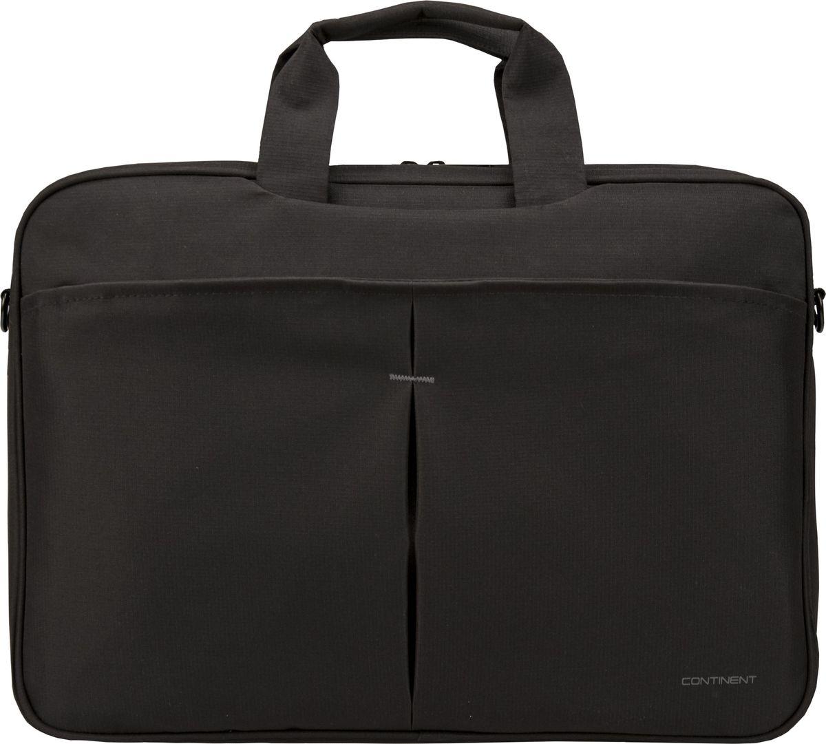 "Continent CC-018, Black сумка для ноутбука 17,3"""