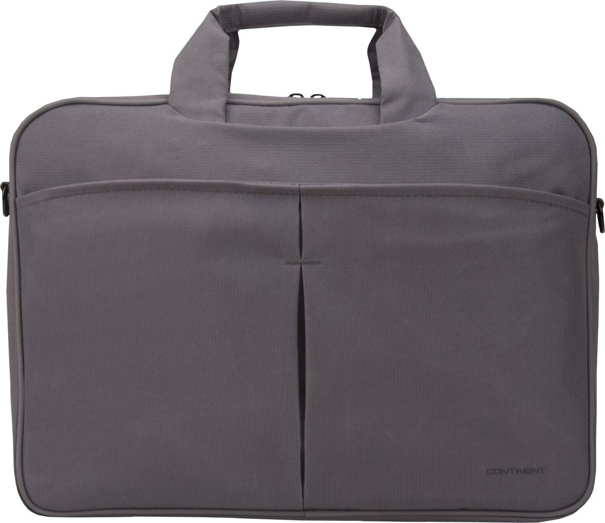Continent CC-012, Grey сумка для ноутбука 15,600-5000352Сумка для ноутбука Continent CC-012 изготовлена из прочного и водоотталкивающего материала - нейлона. Таким образом, используя модель Continent CC-012, вы можете переносить ноутбук даже в дождливую погоду. При этом влага не попадет внутрь устройства, если вы надежно застегнули молнию.На передней части чехла расположен большой карман, который разделен на две ровные части. Там вы можете хранить блокнот, телефон или ручки. Дополнительные предметы всегда будут у вас под рукой.