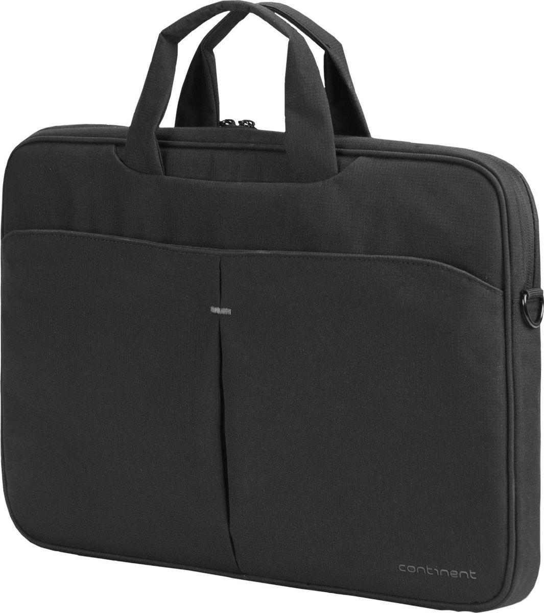 Continent CC-012, Black сумка для ноутбука 15,600-5000353Сумка для ноутбука Continent CC-012 изготовлена из прочного и водоотталкивающего материала - нейлона. Таким образом, используя модель Continent CC-012, вы можете переносить ноутбук даже в дождливую погоду. При этом влага не попадет внутрь устройства, если вы надежно застегнули молнию. На передней части чехла расположен большой карман, который разделен на две ровные части. Там вы можете хранить блокнот, телефон или ручки. Дополнительные предметы всегда будут у вас под рукой.