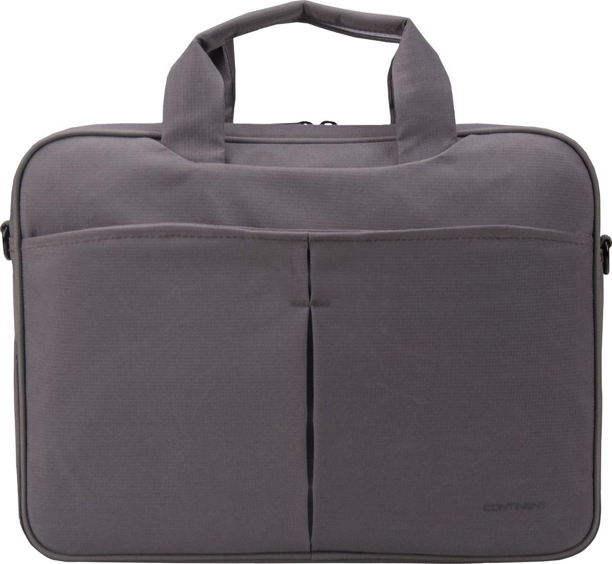 Continent CC-014, Grey сумка для ноутбука 13,300-5000355Continent CC-014 - удобная и практичная сумка, предназначенная для переноски ноутбука. Она пригодится всем, кто много времени проводит в деловых командировках и туристических путешествиях, часто возит с собой мобильный компьютер, чтобы работать и развлекаться во время поездки.Сумка изготовлена из устойчивого к износу материала, снабжена удобной ручкой и плечевым ремнем. Ее создатели предусмотрели дополнительные карманы, в которых можно хранить аксессуары для ноутбука, документы, различные полезные мелочи.