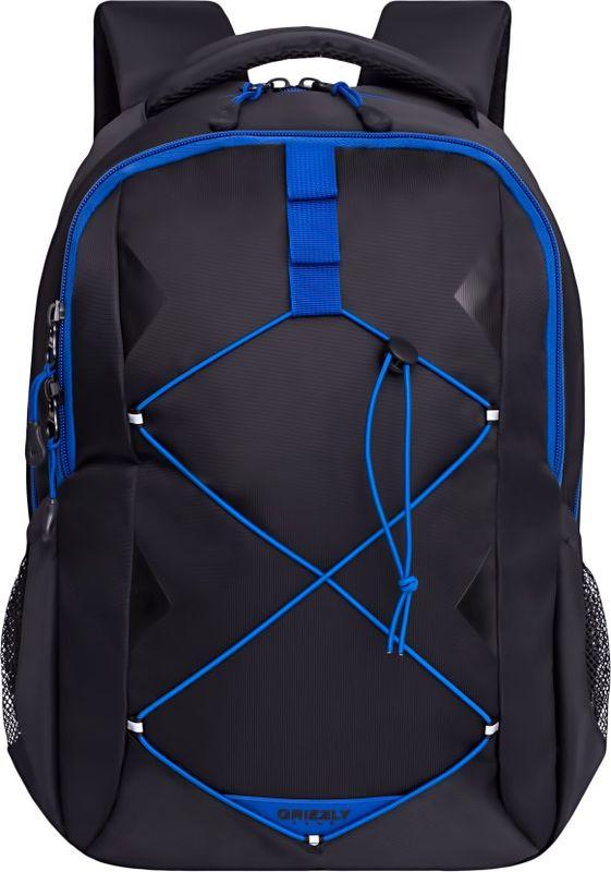 Рюкзак молодежный Grizzly, 16 л. RU-808-2/1RU-808-2/1Рюкзак молодежный Grizzly - лаконичная и очень удобная модель, в которую поместится все: школьные принадлежности и завтрак, одежда и многое другое. Рюкзак, выполненный из нейлона, имеет два отделения, на передней стенке стяжка-шнур,боковые карманы из сетки, внутренний карман для электронных устройств, внутренний составной пенал-органайзер. Благодаря текстильной ручке рюкзак можно повесить, а подвесная система позволяет регулировать лямки и тем самым адаптировать изделие под рост владельца.